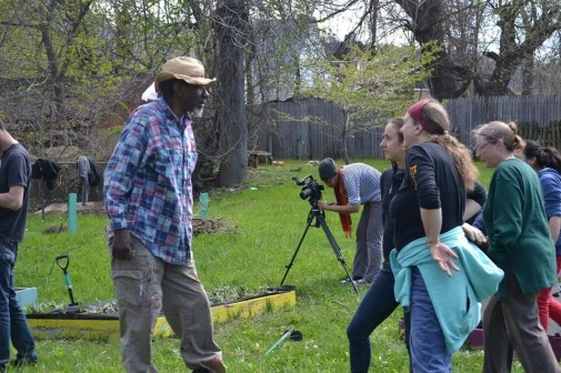Baba Amir Rashad at the Pittsburgh garden convergence. Credit: GeAnita Smith/Ecosocialist Horizons