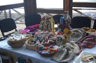 The craftswomen who belong to the Association of Peasant Women of Patagonia in southern Chile are eagerly awaiting the opening of their own community centre, where they will exhibit and sell their products. Meanwhile they sell them in public fairs and the locales of other women's organisations in the Aysén region. Credit: Marianela Jarroud/IPS