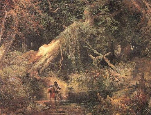 thomas-moran-slaves-escaping-through-the-swamp-82572